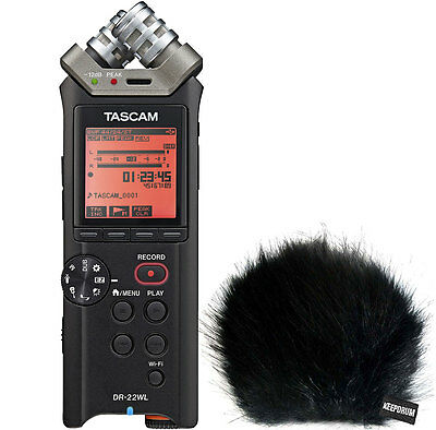 Tascam DR-22WL Handheld Audio Recorder+Keepdrum Fur Windscreen Wsbk • 148.97£