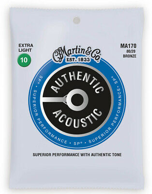 Martin Authentic Acoustic Bronze Extra Light Guitar Strings