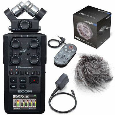 Zoom H6 Recorder Dictaphone+APH6 Accessories Set • 445.50£