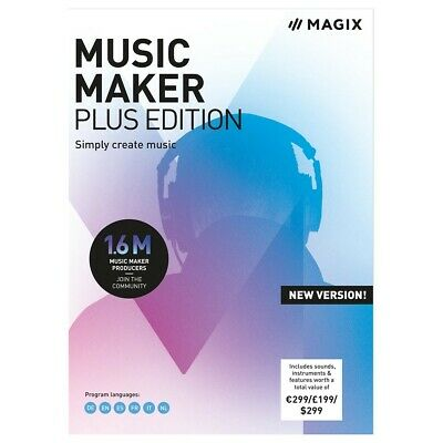MAGIX Music Maker Plus Edition - New VERSION - (This Is Official Download Only) • 29.99£