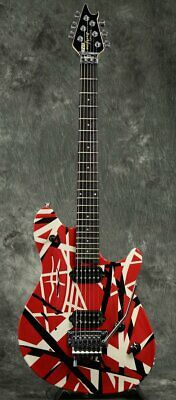New EVH Wolfgang Special Ebony Fingerboard Red Black And White Stripes Guitar • 1,437.62£