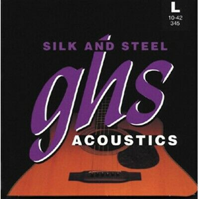 GHS Silk And Steel, Light Acoustic Guitar Strings 10-42 • 8.24£