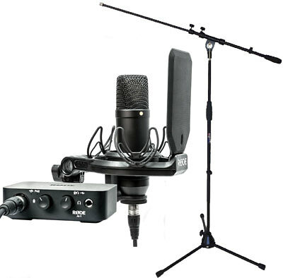 Rode NT1AI1-KIT Studio Kit + Keepdrum Microphone Stand • 309.47£