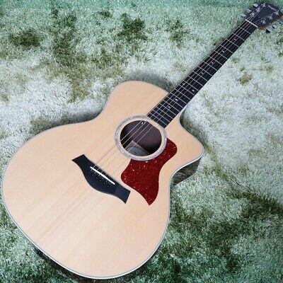 New Taylor 214ce-CF DLX  Natural Acoustic Guitar From Japan • 1,720.95£