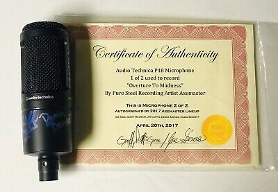 Autographed Axemaster Audio Technica AT2020 Condenser Microphone- W/COA • 71.75£
