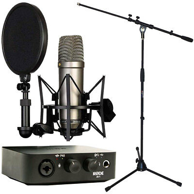 Rode NT1-A Microphone+AI-1 Interface+Keepdrum Tripod • 296.49£