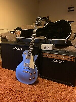 Epiphone Les Paul Standard Pelham Blue With Marshall Code100 Amp & MG Series Amp • 400£
