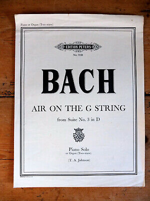 J. S. Bach, Air from Suite no. 3, piano solo. Edition Peters, 1969.
