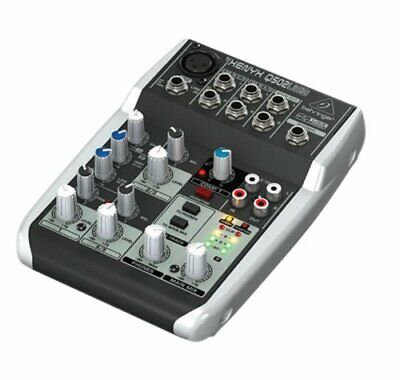 Premium 5 Input 2 Bus Mixer With XENYX Mic PreampCompressorBritish EQ And USB • 53.67£