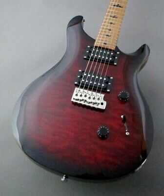 Paul Reed Smith: Electric Guitar PRS SE Custom24 RSTM Fire Red Burst T12142 • 912.44£