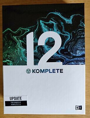 Native Instruments Komplete 12 - UPDATE From K2-11, Inc Hard Drive, Boxed, New • 124.99£