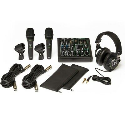 Mackie Performer Bundle Live Sound Mixer Microphone Headphones Cables Package • 243.50£