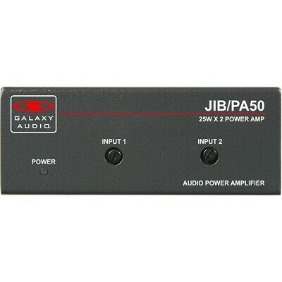 Galaxy Audio JIB PA50 Jacks In The Box Compact Stereo 25W RMS Power Amplifier