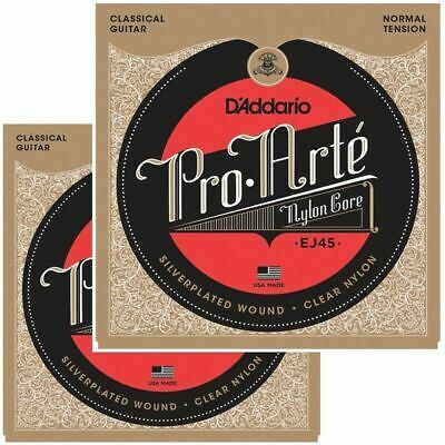 D'Addario 2 Sets Classical Guitar Strings - Nylon And Silver-plated Copper Norma • 27.60£