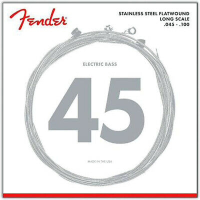 Fender 9050L Stainless Steel Flatwound 4 Electric Bass Strings 45-100 String Set • 30.48£