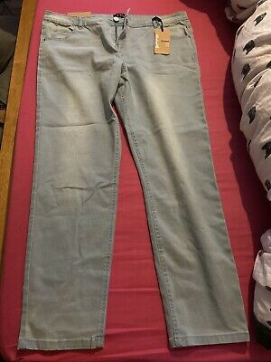 BNWT Select Ella Skinny Mid Rise Light Blue Jeans Stretch Size 18 • 3.50£