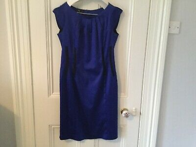 Ella Boo Dress. Royal Blue With Black Vertical Panels At Waist. Size 12 .  • 22£
