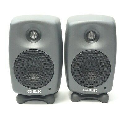 GENELEC 8020DPM Speaker Dark Gray Free Shipping Working Properly  (d702 • 1,466.26£
