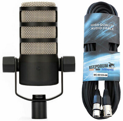 Rode Podmic Professional Dynamic Podcast-Mikrofon + Keep Drum XLR Cable • 119.92£