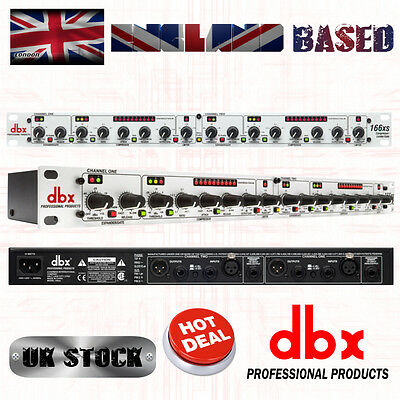 dbx 166XS Professional Compressor / Limiter / Gate with XLR and TRS Connectors