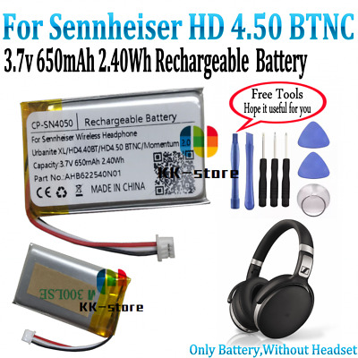 650mAh 2.40Wh Battery For Sennheiser HD 4.50 BTNC Wireless Bluetooth Headphone • 17.85£
