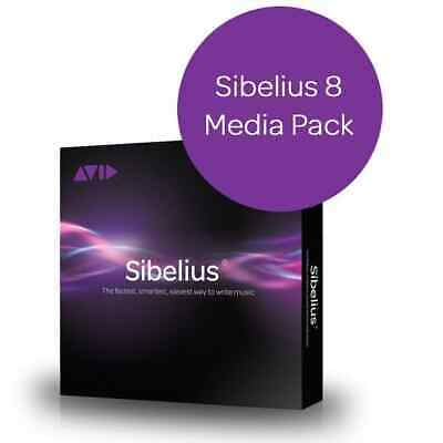 Sibelius 8 Installation Media DVD (incl Huge Sounds Library) • 35£