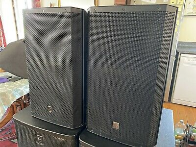2 X Electrovoice EV ELX115 15 Inch Full Range Passive PA DJ Speakers Pair Covers • 499£