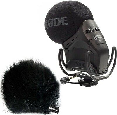 Rode Svmpr Stereo Videomic Pro Rycote Camera Microphone + Keepdrum Wsbk Wind • 206.89£