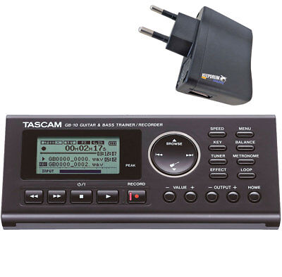 Tascam GB-10 Trainer Recorder For Guitar And Bass + Power Supply • 157.80£