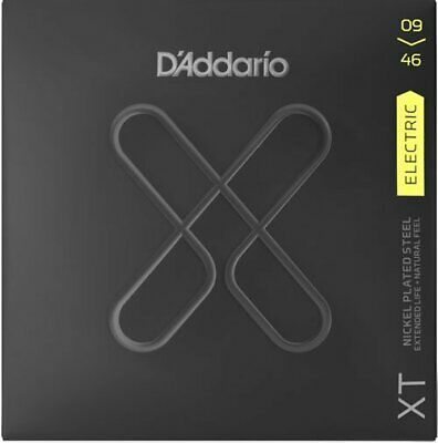 D'Addario XT Nickel Electric Strings, Super Light Top / Reg Btm 9-46 • 12.94£