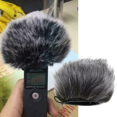 For Zoom H5 H6 Professional Voice Recorder Windproof Grey Fur Sleeve L3V8 • 2.99£