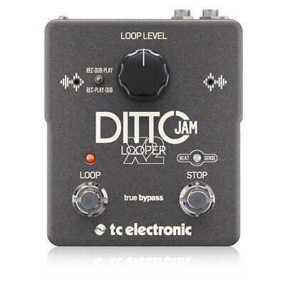 TC Electronic DITTO JAM X2 Guitar Looper Effects Pedal C/w Automatic Tempo Sync • 222.27£