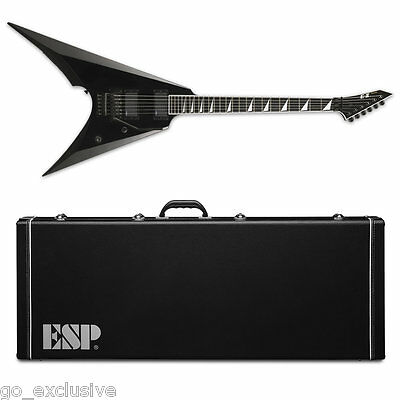 ESP E-II ARROW Black BLK Electric Guitar NEW W/ FREE Hardshell Case! EII E2 E-2 • 1,527.70£