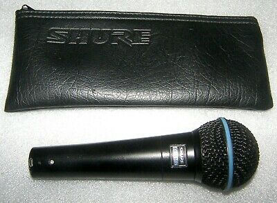 Shure Beta 58A , Professional Vocal Dynamic Microphone. Black Limited Edition. • 120£