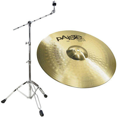 Paiste 101 20 Ride Cymbals + Boom Cymbal Stand • 117.41£