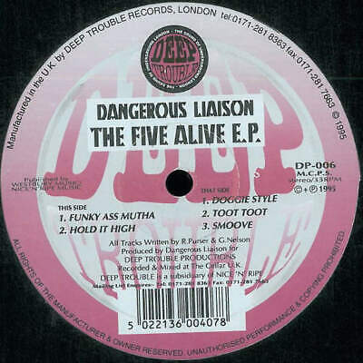12  : Dangerous Liaison - The Five Alive E.P Deep Trouble - DP-006 • 4.05£