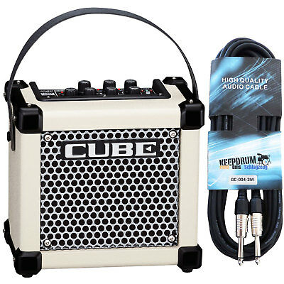 Roland Micro Cube GX Guitar Amplifier White+Cable • 142.40£