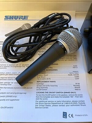 Shure SM48 LC Vocal Microphone Dynamic Cardioid Singing Voice Karaoke Wired Mic • 50£