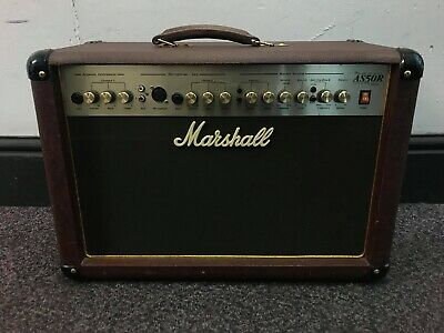 Marshall 50 Watt Acoustic Amplifier Combo AS 50 R - Brown Leather Look Finish • 170£