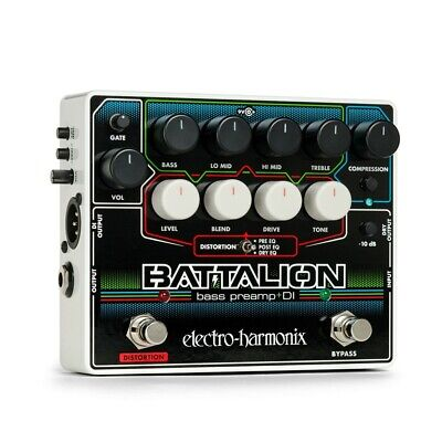 Electro-Harmonix Battalion Bass Preamp And DI Effects Pedal • 174.01£