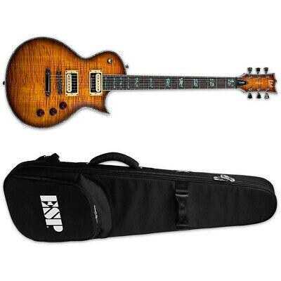 ESP LTD Deluxe EC-1000 FM Amber Sunburst ASB Electric Guitar + ESP Gig Bag • 787.24£