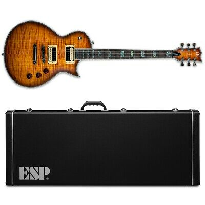 ESP LTD Deluxe EC-1000 FM Amber Sunburst ASB Electric Guitar + Hard Case • 891.56£