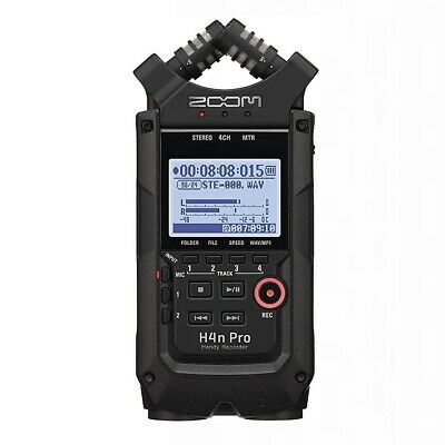 Zoom H4n Pro Handy Recorder - Black 24-bit/96kHz Field Recorder And 2x2 USB Audi • 252.32£