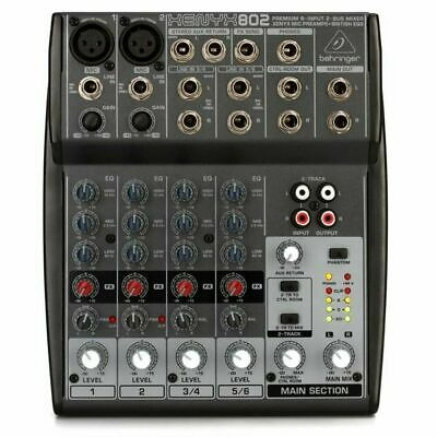 Behringer Xenyx 802 Mixer 4-ch Mixer - Two Xenyx Mic Preamps Two Stereo Chanenls • 75.54£
