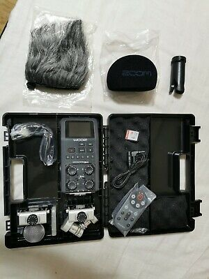 Zoom H6 Portable Field  Recorder Boxed With Xy Ms Mic And Rch-6 Remote • 275£