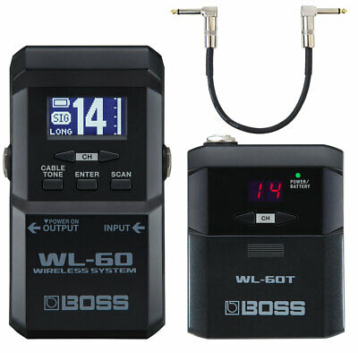 Boss WL-60 Wireless Funk-System For Guitar + Keepdrum Patchkabel 30cm • 257.71£