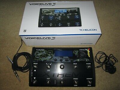TC Helicon VoiceLive 3 Extreme Multi-Effect Pedal - Rarely Used, Mint Condition • 425£