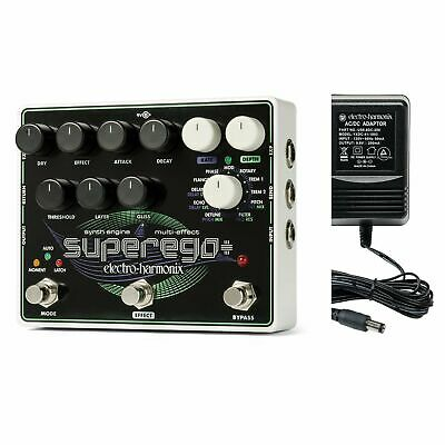 Electro-Harmonix Superego Plus Super Synth Engine Pedal With Power Supply 2 DAY! • 181.92£