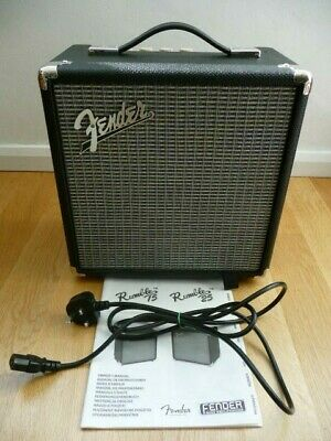 Fender Rumble 15 Bass Amplifier (V3) With Power Supply & Owner's Manual - VGC • 48£