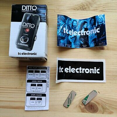 EMPTY TC Electronic Ditto Looper Box Quick Start Guide Stickers Feet Etc • 10£